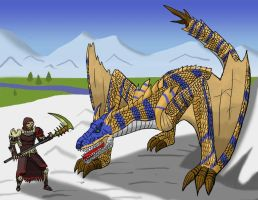 MH: Tigrex in the Mountains by Daowg