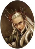 Thranduil the king of Mirkwood by HarukArt