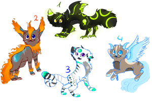 Creature adopts 2 by MissLayira