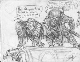 an old predator comic pic by Anarchpeace