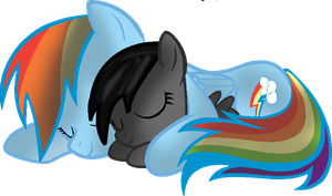 Rainbow dash and Kayssy by Kayssy-HTF