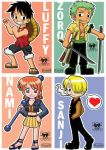 One Piece chibi characters by sapphirez
