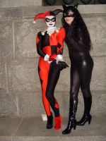 Catwoman and Harley Quinn by Stabitha