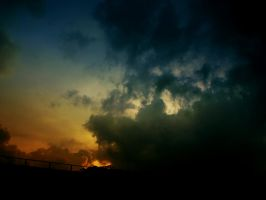 Clouds on a railway by SS-OschaWolf