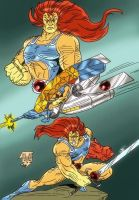 Lion-O and Hover Cat by violencejack666