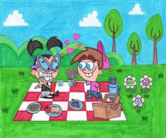 Timmy and Tootie's Picnic by nintendomaximus