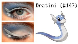 Pokemakeup 147 Dratini by nazzara