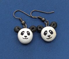 Panda Earrings by Sugar-Bolt