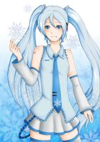 Snow miku by kimbolie12