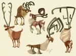 Reindeer Designs by sketchinthoughts