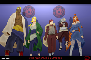 The five Kage by latinwarrior