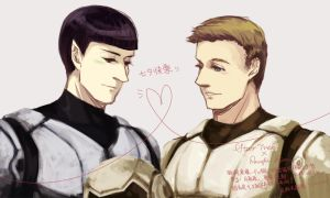 2013 Star Trek AOS x Pacific Rim - Spock / Kirk by SandyC216