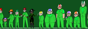 15 Green Torsos Assembled by Mii-kami