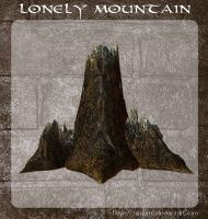3D Lonely Mountain by zememz