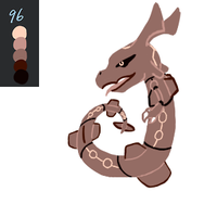 Rayquaza - Palette Challenge by SilverKats101
