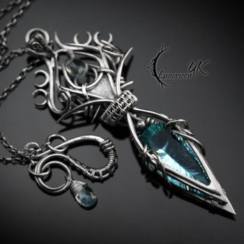 NYZYRNH - silver and sky blue quartz by LUNARIEEN