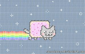 Typographic Nyan Cat by SnowBnny