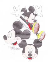 Mickey Mouse With Piercings by EZZIELUVSDAVIDBOWIE