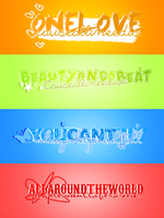 Justin Bieber PNG text pack by ThoughtOfYous