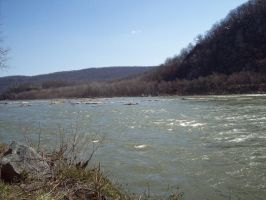Potomac River - Harpers Ferry by irunbarrels-stock