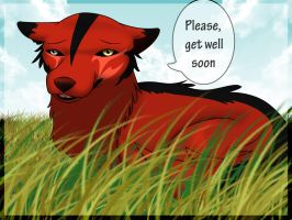 """Akani:""""Please, get well soon"""" by TheWolfMadness"""