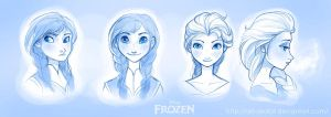 Frozen Sketches by Art-Zealot