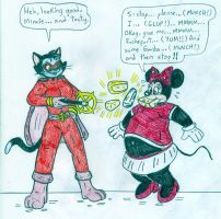 Minnie Mouse and Alley-Kat-Abra by Jose-Ramiro