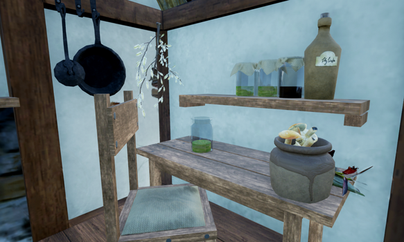 the Herbalist's Hut, closeup by toAflame