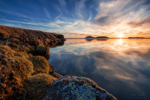 Sunset at the Myvatn Lake by LinsenSchuss