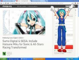 Miku in Sonic All Star racing transformed possible by MoonwolfYouthOtaku
