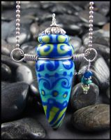 Galapagos - Lampwork Vessel Bottle Pendant by andromeda