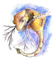 Crestie and Cricket watercolor by CatharsisJB