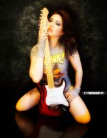 Sexy Guitar Pose by X9Photography