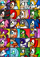Sonic and pals by cazzyx3