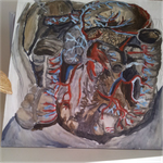 Anatomy oil painting by Paintedingold