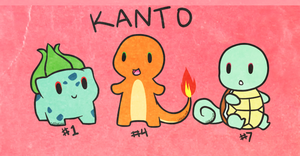Kanto Starter Pokemon by Sarucho