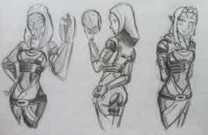 sketches Tali (74) by spaceMAXmarine