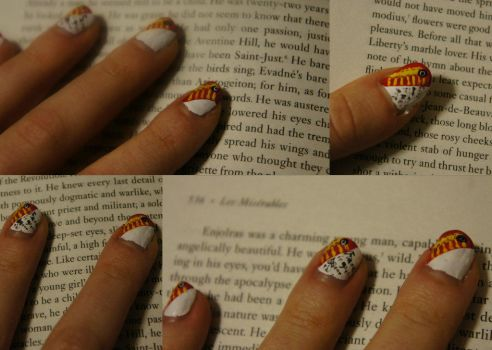 Enjolras Nails by Eternity-Beckons
