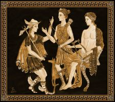 Ancient Greek deities by Cirandel