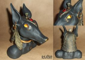 Handmade Anubis Bust (UPDATE: SOLD) by Graphix-Goddess