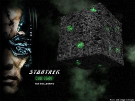 Trek Wallpaper: Borg Cube by Magmarama