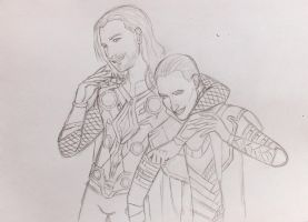 Thor and Loki by Nemesis-Eris
