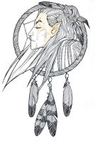 American Indian!AU Thranduil by KokorodzasySu