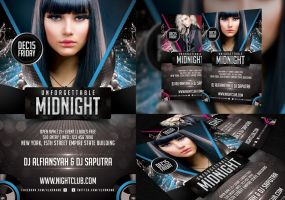 Unforgettable Midnight Flyer Template by angkalimabelas
