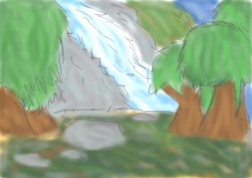 Forrest(and Water fall) by King-Kipp