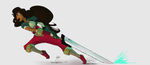 character design + action pose practice by HyperdrivePanda