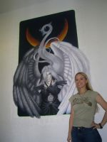 Me and my Painting by AerithReborn