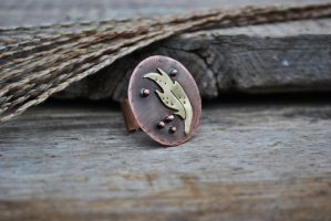 Copper ring by twistedjewelry