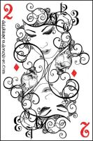 2 of diamonds by vasodelirium