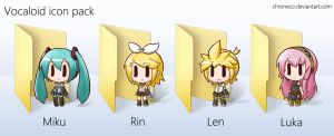 Vocaloid Icon Pack by chroneco